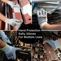 Wholesale pairs of Cut Resistant Gloves Level Protection Food Grade EN388 Certified Safety Gloves for Outdoor Fishing A256