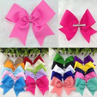 Wholesale 8 quot take the lead in hair boutique bows and crocodile clip the baby s hair accessories PC colors