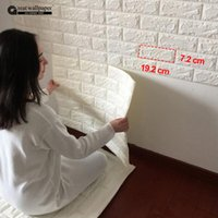 Wholesale D wall stickers wall brick pattern self adhesive wallpaper bedroom living room decorative waterproof anti collision