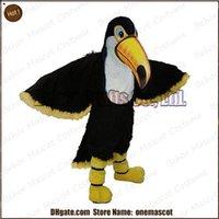Costume de mascotte de toucan d'oiseau expédition libre, fête de carnaval de qualité de fantaisie de luxe de fantaisie tapis de toucan de mascotte d'oiseau taille adulte.