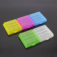 Wholesale Coloful Battery Holder Case AA AAA Hard Plastic Storage Boxes Cover For Battery Home Organization