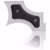 Precio de Recortar las herramientas de corte-Nueva Barba Bro Beard Shaping Herramienta Sex Gentleman Trim Plantilla corte de pelo corte de moldeado plantilla barba de modelado Herramientas de forma Trimmer