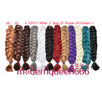 Wholesale Xpression jumbo braids Hair82 g Wholsale single color Ultra Braid Premium Kanekalon Synthetic braiding hair extensions colors Optional