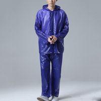 Wholesale New Arrival Adult Raincoat Suit Motorcycle Bicycle Biking Rain Jacket Suit Waterproof Rainwear Tops Pants