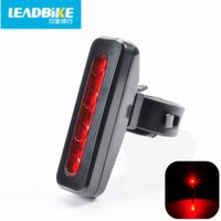 Wholesale LEADBIKE Waterproof Bicycle Tail Lights ABS LED Rechargeable MTB Road Cycling Rear Lights Modes Bike Accessories