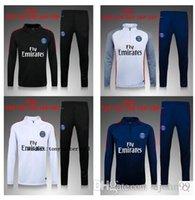 Wholesale thai quality for kids PGs jacket Training suit kits boys Paris DI MARIA CAVANI VERRATTI LUCAS MATUIDI football shirts