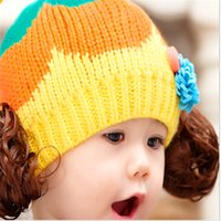beautiful problems - Korean wool hat wig cap for children Lovely hat Beautiful hat Fabric comfortable and thick autumn and winter are no problem