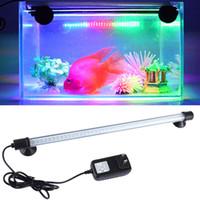 Декор аквариума Цены-Высокое качество аквариума Fish Tank LED Декор Водонепроницаемый Свет 18/28 / 38см погружные светодиодные полосы лампы Бесплатная доставка
