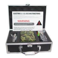 De madera y camuflaje e cigarrillo portable cera vaporizador clavo eléctrico clavar con cuarzo titanio banger clavo 16mm 20mm bobina calentador kit