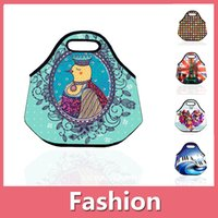 Wholesale New Sweet Small Flower And Animal Neoprene Picnic Bag Lunch Bag Picnic Pouch Multi Function Bag