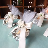 Wholesale Acrylic Silver Swan Sweet Love Wedding Gift Jewely Candy Favor Sweetbox Candy Package New Novelty Wedding Favors holders High Quality
