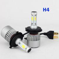 achat en gros de projecteur ampoule h7-2 PCS LED Ampoule de phare de voiture Hi-Lo faisceau feux COB 72W 8000LM 6500K automatique Phare 12v 24v H4 H7 H8 H13 9005 9006