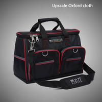 Wholesale quot x9x24cm Multifunctional Waterproof Electrical Bag Tools Case Oxford Bag Electrician Repair Canvas Tool Bag Tool Kit