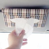Wholesale Cars Sun Visor Type Removable Tissue Boxes Slide Cover Napkin Holder Car Tissue Box Tissue Cover