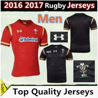 Wholesale thailand quality Wales Rugby Jersey RWC Best Quality wales red black Rugby jerseys Shirt size S XXL