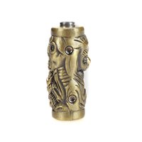 Wholesale SB003 Skull Individuality Tattoo Grip Non slip Bronze mm Zinc Alloy Tattoo Machine Grips With Set Screws Tube Supply