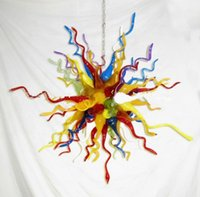 art deco home design - Light Fixture of Ceiling Pretty Home Lighting Colorful Design for Living Room Art Deco Mouth Blown Borosilicate Murano Glass Chandelier
