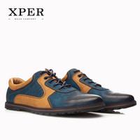 big dress shoes - 2016 XPER Brand Men Casual Shoes PU Breathable Men Flats Shoes Mixed Colours Dress Sporty Shoes For Men Big Size YM86826BU