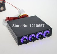 Wholesale STW PC Case Floppy Position Channel Blue LED Speed Fan Controller Control Cooling with Retail Box