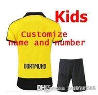 Wholesale football jerseys thai quality football shirt kids Dortmund REUS Home Home KAGAWA Football sock