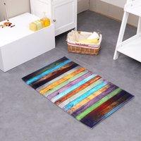 Wholesale Stripe Cotton Wool Carpet Memory Surface Suction Dust The Bedroom Bathroom Door Mat Mat Carpet Non Slip Shoes Or Mat