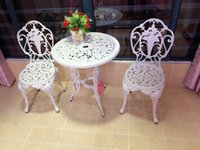 Wholesale 3 piece White Bistro Patio Set Table and May Chairs Set Furniture Garden Outdoor Seat