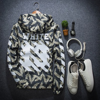 Wholesale Spring autumn mens thin off white hip hop bomber jacket hooded coats men casual korean jackets windbreaker jaqueta masculina