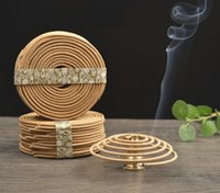 Wholesale OVERSEAS box Natural Coil Incense Flavors Aromatherapy Fragrance Indoors Indian Buddhist Sandalwood Mosquito Repellent Deodorant