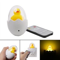 amarillo vivero al por mayor-Luces de Navidad LED Bedside Nursery Pequeño Amarillo Duck Night Light Decoración Niños Sala Lovely Nueva Lámpara De Pared Linternas Portátiles