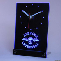 avenged sevenfold band - tnc0155 Avenged Sevenfold Band Bar Table Desk D LED Clock