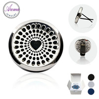 aroma naturals - Aroma Jewelry L Stainless Steel Car Air Freshener Sanitizer Natural Vent Diffuser With Retail Packaging Box Free Pads C