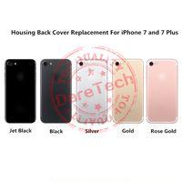 al por mayor color oro iphone-Cubierta del reemplazo para el iPhone 7 7 del negro del iPhone 7 más el negro del oro de Rose de la plata del oro del jet de la cubierta 5 colores con insignia