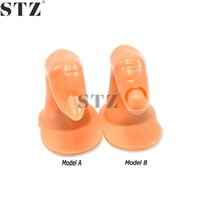 NJ209 beauty tips models - STZ Fake Acrylic Training Nail Art Finger Model Optional Designs False Fingernail Lady Beauty Practice Nails Tools NJ209