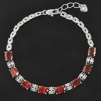 amethyst tennis bracelet sterling - Luxurious natural garnet bracelet high quality Solid Sterling Silver ct garnet silver bracelet garnet stone jewelry for woman