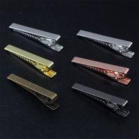 Wholesale 10Pcs MM Plain Tie Clip Classic Style Colors Plated Mens Tie Clip