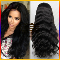 Factory Sell Full Lace Hair Hair Wigs Body Wave 7A Brazilian Glueless Full Lace Perruques Human Hair Front Lace Perruques pour Black Women