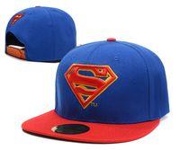 Dc Comics Superman Snapback Flat Brim Sombrero Gorra Moda Hip-hop Snapbacks Hombres Mujeres Verano Playa Sun Sombreros Cool Party Caps