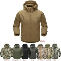 Wholesale ESDY Outdoor Jacket Coat Water resistant Luker TAD Shark Skin Soft Shell Hoodie Military Airsoft Camping Hiking Clothing Tad army