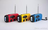 Wholesale Emergency Radio Solar Hand Crank Self Powered AM FM NOAA WB Weather Radio Multifunctional Compact Dynamo LED Flashlight