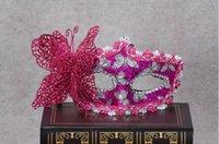 Bauta Mask balls goggles - Halloween Makeup Ball Princess Mask Venetian Cloth Painting Party Goggles Men and Women Butterfly Mask