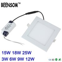Wholesale BEENSOM Ultra thin led panel light square w w w w w w Led down light for home living room V