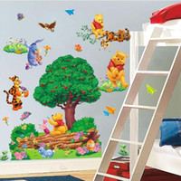 Wholesale Lovely Winnie The Pooh Tigger Cartoon Wall Sticker Vinyl Art Decals Kids Room Decor