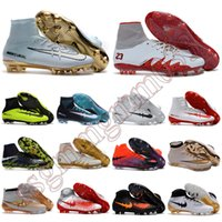 Wholesale New mens high ankle Football Boots CR7 Mercurial Superfly V Soccer Shoes ACC magista Obra II FG Soccer Cleats Hypervenom Phantom X