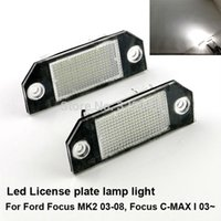 Wholesale Excellent Ultrabright Epistar Led License plate lamp light for Ford Focus Ford C Max No OBC error