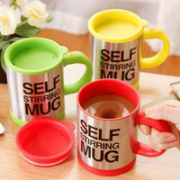 automatic blow - 2017 NEW Automatic coffee mixing cup mug blew stainless steel self stirring electric coffee mug ml mixed colors DHL