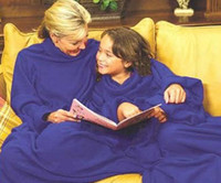 Wholesale adult kids Blankets with sleeves Sofa TV blanket Newest Supper Home Winter Warm Robe Cloak DHL free