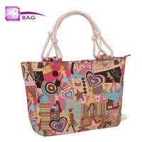 Cheap Wholesale-Clearance! Lowest Price Women Handbag Canvas Beach Bag Strip Leopard Flower Ladies Shoulder Bag Large Capacity Casual Hand Bag