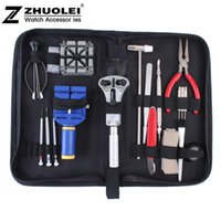 Wholesale set New High Quality Practical table tool watch repair tool kit clock kit strap down the bottom opener