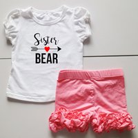Girl Summer 95% cotton 5% spandex cute baby kids girls set short sets ruffle cotton shorts girls sets summer gift for toddler girl infant babies outfit dress ruffle top suits