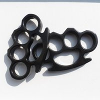 Wholesale 5PCS Silver and Black Thin Steel Brass knuckle dusters Self Defense Personal Security Women s and Men s self defense Pendant